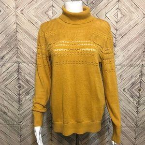 Banana Republic S Mustard knit turtleneck sweater